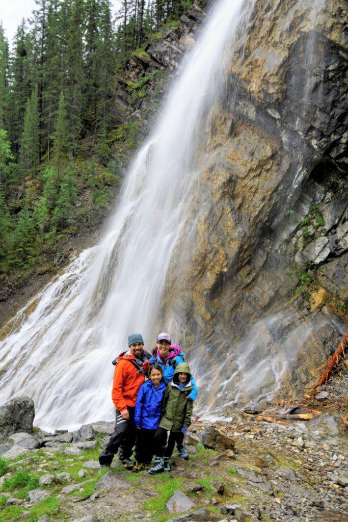 Waterfall along Grassi Lakes Interpretive Trail