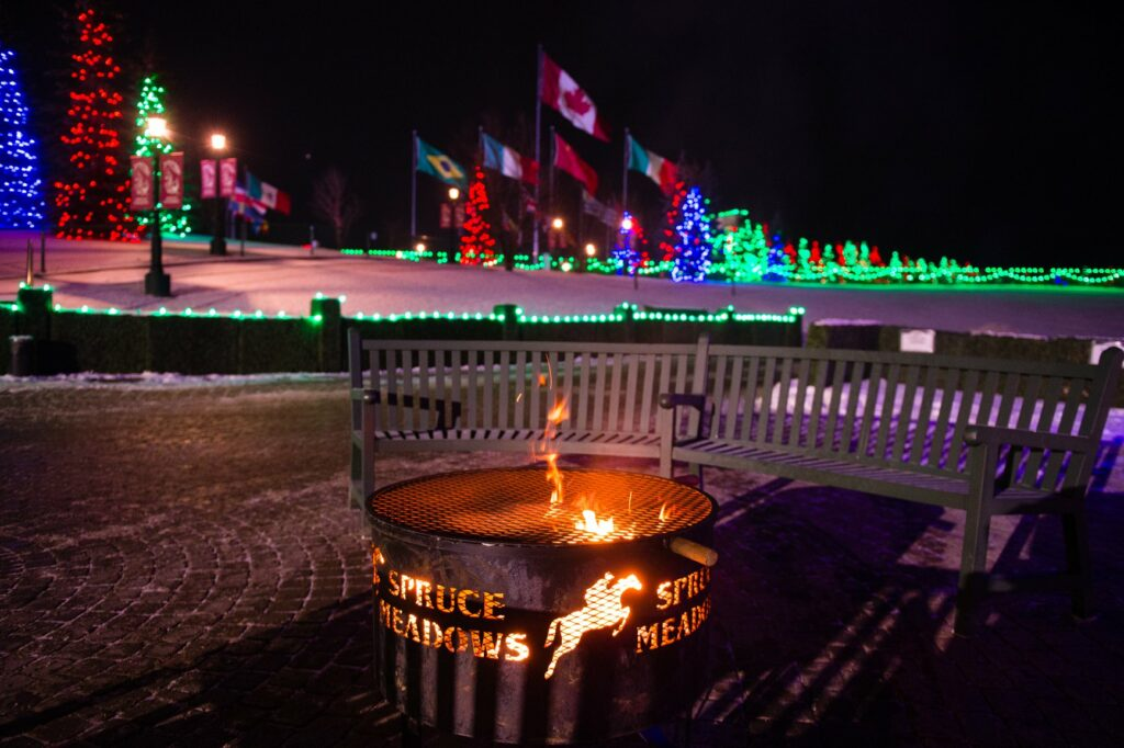 Christmas lights at Spruce Meadows