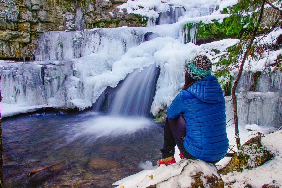 Upper Falls (beyond Troll Falls), Kananaskis