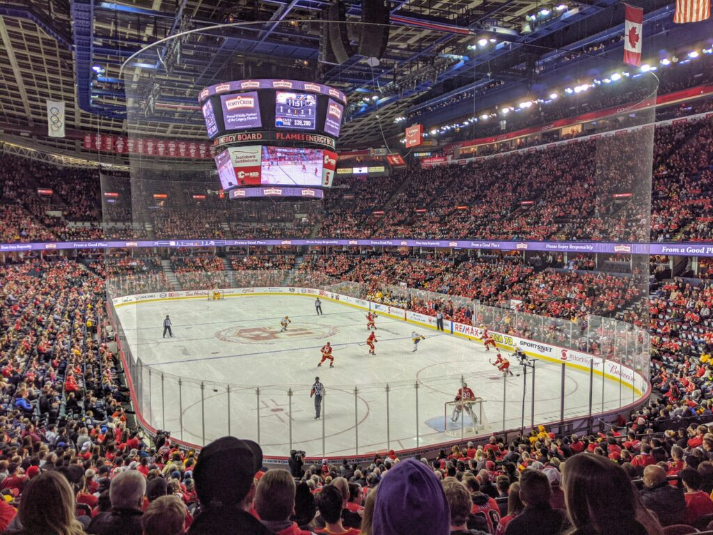 Calgary Flames Game, Scotiabank Saddledome, Calgary