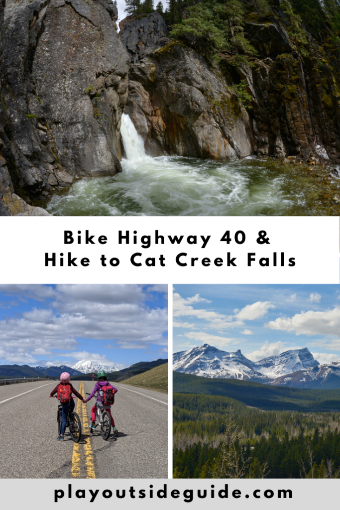 Bike Highway 40 from Highwood Junction to Cat Creek Day Use, and hike to Cat Creek Falls