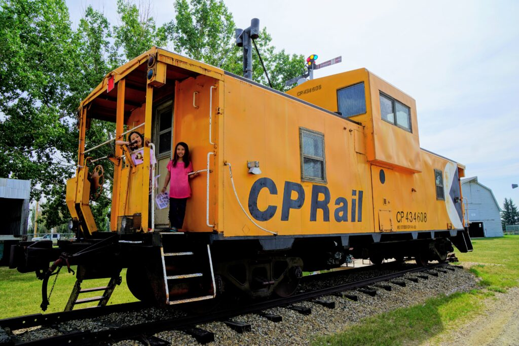 Caboose at Brooks & District Museum
