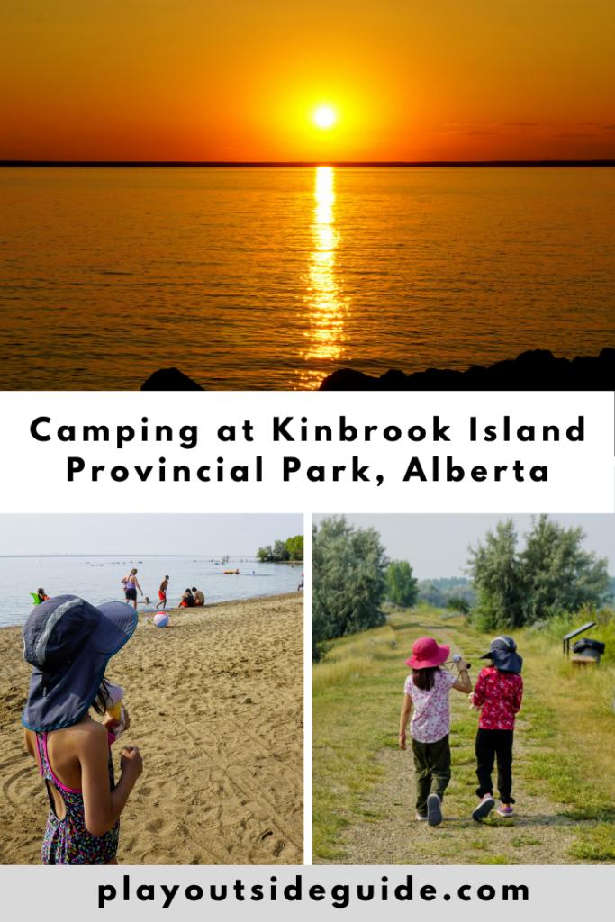 Camping at Kinbrook Island Provincial Park, Brooks pinterest pin