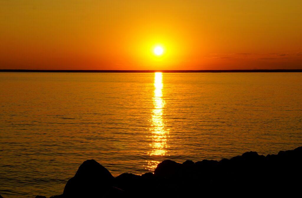 Sunset at Kinbrook Island Provincial Park