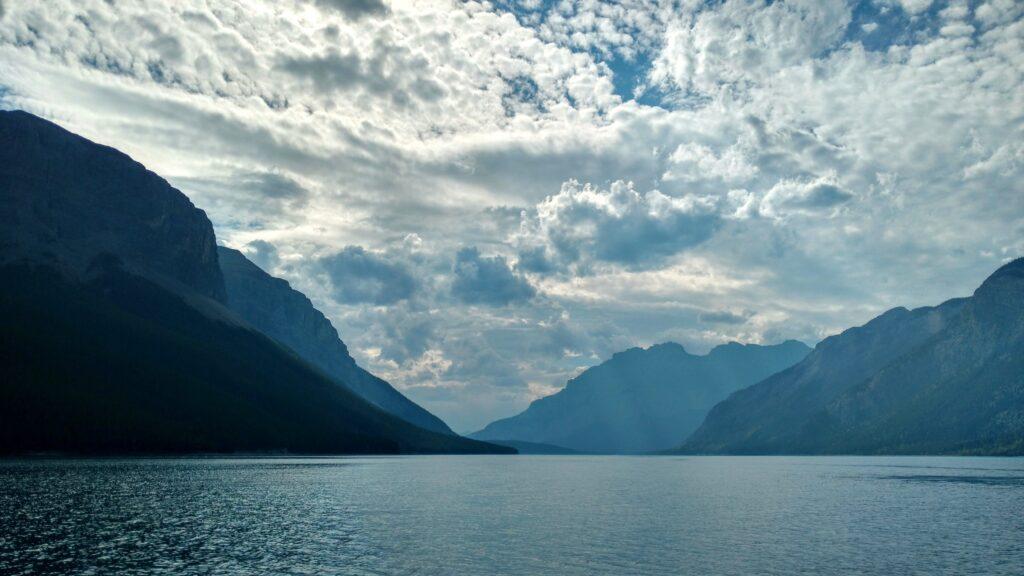 View from Lake Minnewanka Lake Cruise