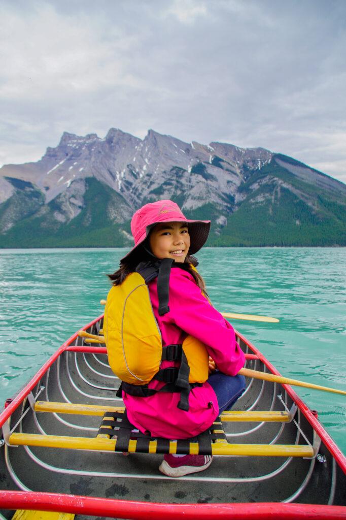 Paddling at Lake Minnewanka Banff