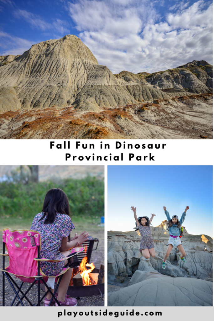 fall fun in dinosaur provincial park
