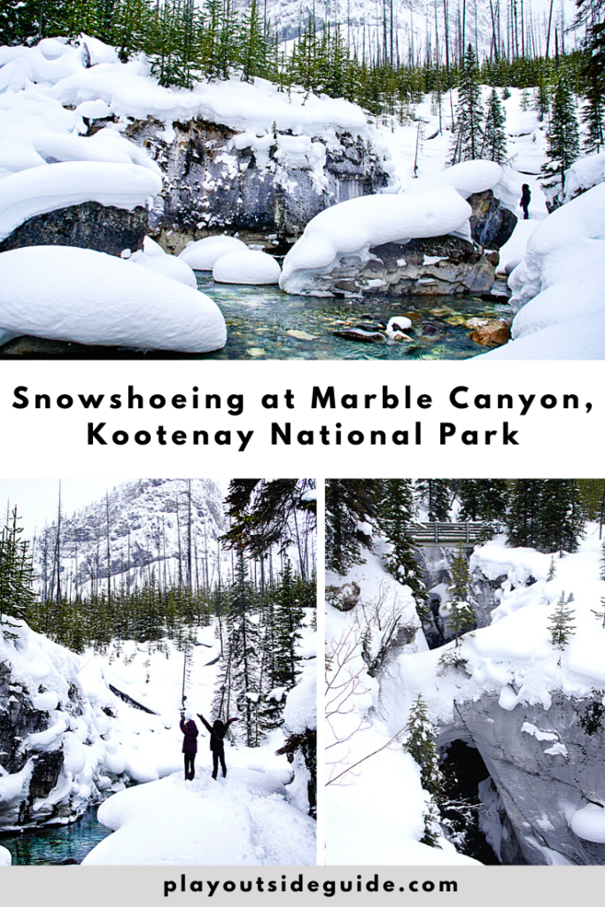 snowshoeing-marble-canyon-kootenay-national-park-pinterest-pin