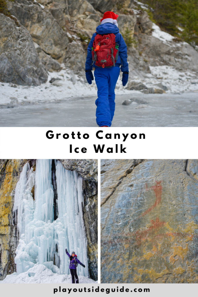 Grotto Canyon - A beautiful canyon ice walk near Canmore