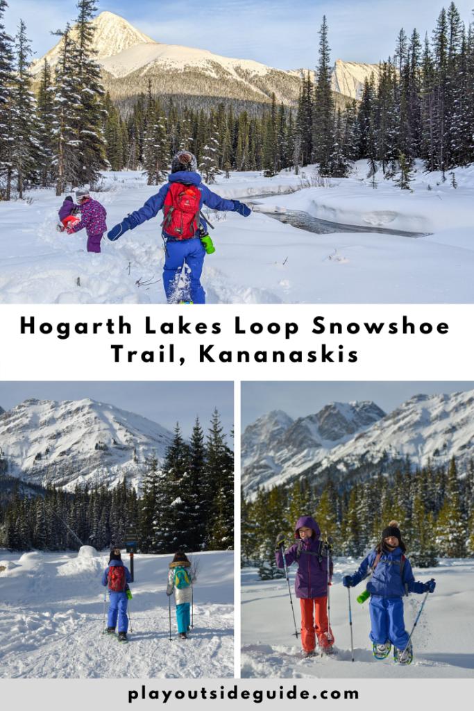 Hogarth Lakes Loops Snowshoe Trail pinterest pin