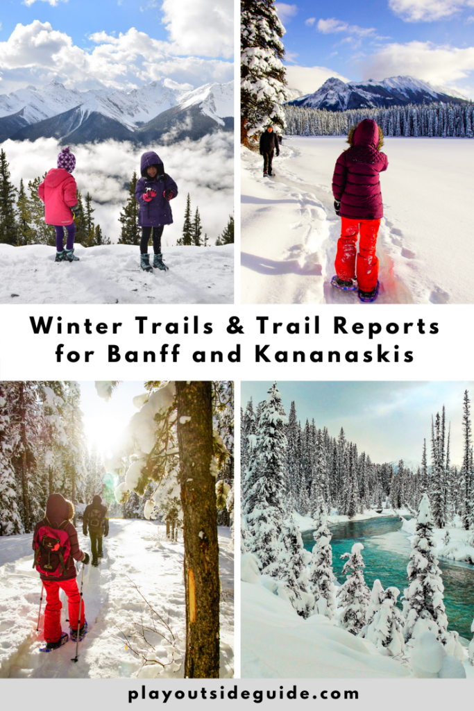 Winter trails and trail reports for Banff and Kananaskis