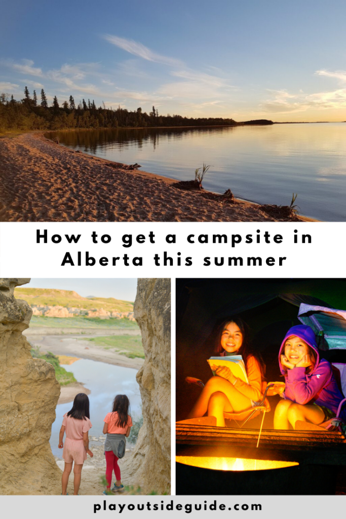how to get a campsite in Alberta this summer