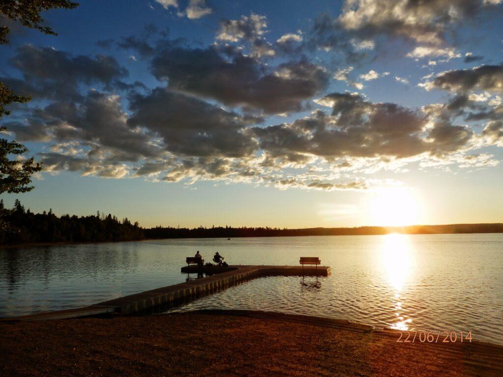 carson-pegasus-provincial-park-dock-sunset-irene-herrington