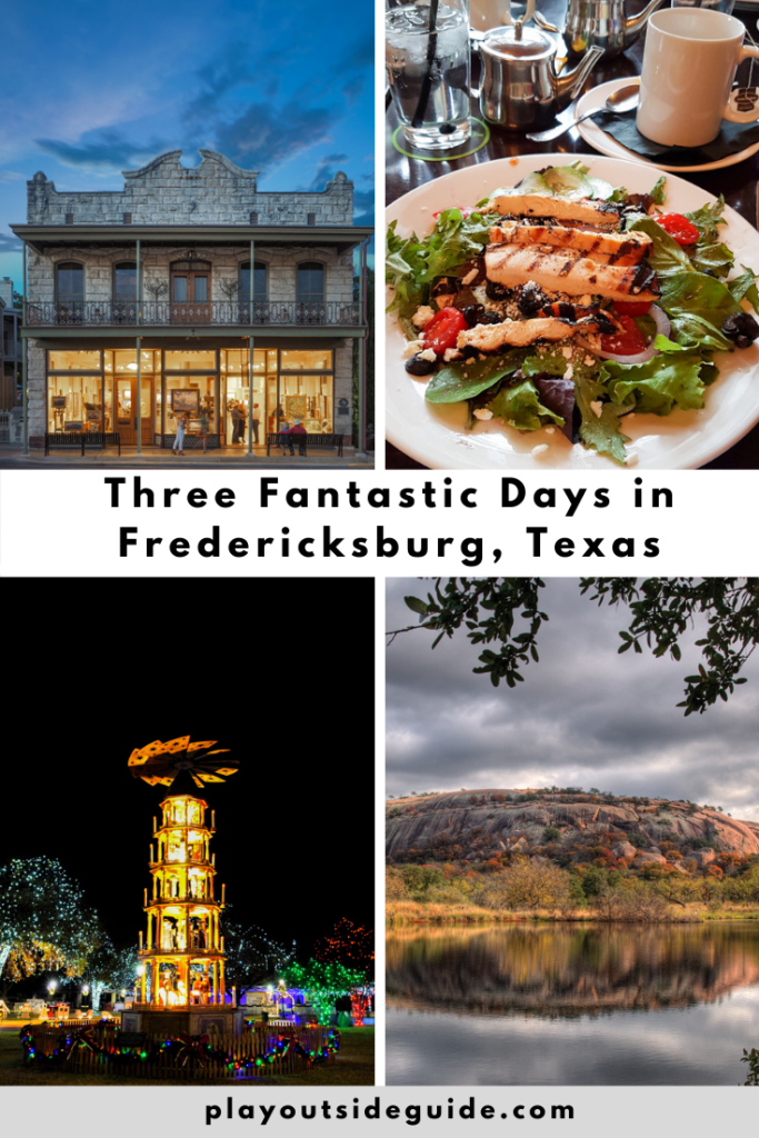 How to spend three fantastic days in Fredericksburg, Texas - pinterest pin
